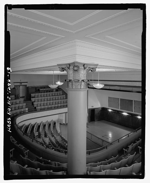AUDITORIUM, DETAIL OF COLUMN CAPITAL - Thirteenth Avenue School, 131 Thirteenth Avenue, Newark, Essex County, NJ