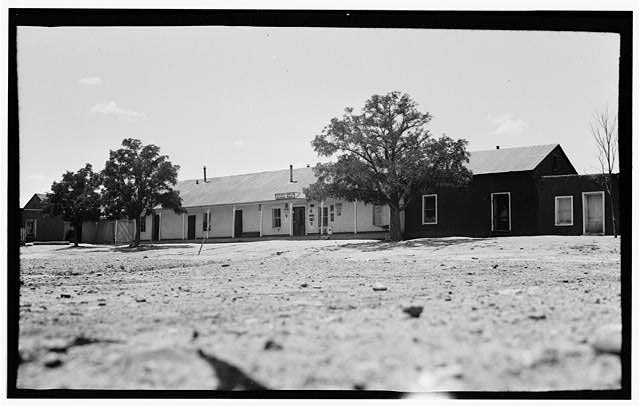 1.  Historic American Buildings Survey Frederick D. Nichols, Photographer August 1936 GENERAL VIEW - Houses on Plaza, Romeroville, San Miguel County, NM