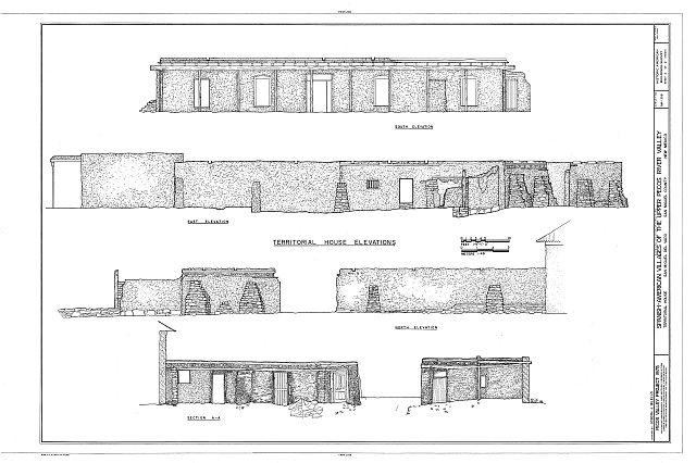 HABS NM,24-SAMIG,3- (sheet 2 of 2) - San Miguel del Vado, Territorial House, Upper Pecos River Valley, San Miguel, San Miguel County, NM