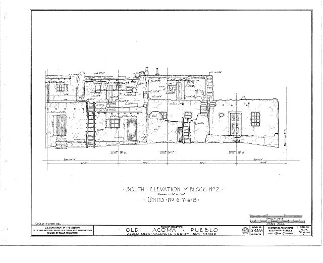 HABS NM,31-ACOMP,1- (sheet 15 of 83) - Pueblo of Acoma, Casa Blanca vicinity, Acoma Pueblo, Cibola County, NM