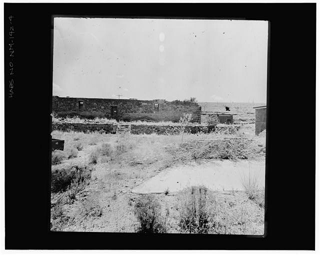 4.  VIEW SOUTH TOWARDS JAIL FROM COURTHOUSE RUINS Copy photograph of photogrammetric plate LC-HABS-GS01-B-1976-804R. - Town of Hillsboro, Hillsboro, Sierra County, NM