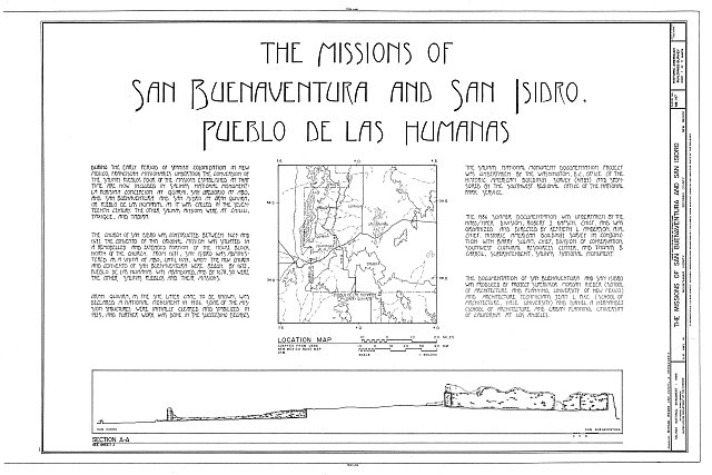 HABS NM,27-GRAQI,1- (sheet 1 of 11) - Missions of San Buenaventura & San Isidro, New Mexico Highway 14, Mountainair vicinity, Mountainair, Torrance County, NM