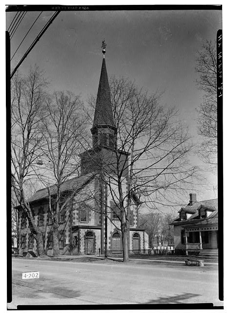 1.  Historic American Buildings Survey, E.P. MacFarland, Photographer April 23, 1934, VIEW FROM SOUTH. - First Dutch Reformed Church, Main Street, Fishkill, Dutchess County, NY