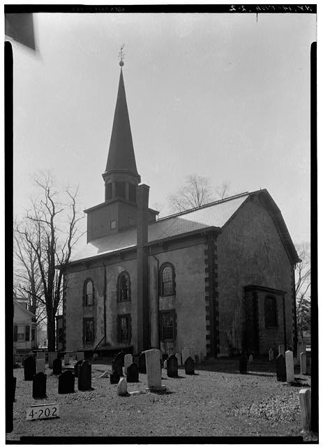 2.  Historic American Buildings Survey, E.P. MacFarland, Photographer April 23, 1934, VIEW FROM NORTH. - First Dutch Reformed Church, Main Street, Fishkill, Dutchess County, NY