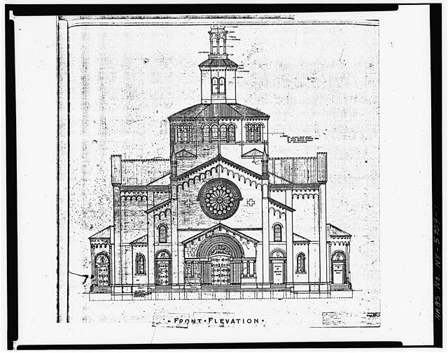 1.  DRAWING OF NORTH (FRONT) ELEVATION - Blessed Trinity Roman Catholic Church, 317 Leroy Avenue, Buffalo, Erie County, NY
