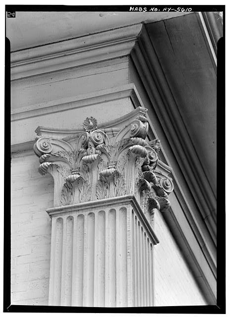 4.  Historic American Buildings Survey, May 1965, DETAIL OF CAPITAL ON SOUTH SIDE. - Ansley Wilcox House, 641 Delaware Avenue, Buffalo, Erie County, NY