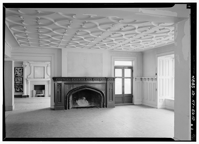 6.  Historic American Buildings Survey, May 1965, INTERIOR CENTER ROOM, FIRST FLOOR. - Ansley Wilcox House, 641 Delaware Avenue, Buffalo, Erie County, NY