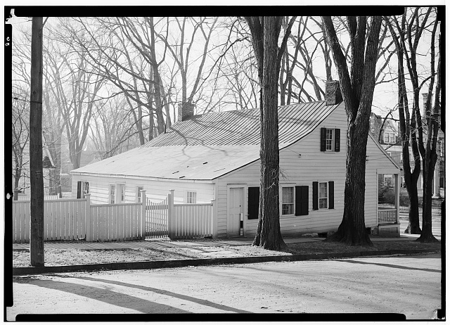 2.  Historic American Buildings Survey, May 12, 1936, N. E. Baldwin, Photographer, REAR VIEW AND SIDE ELEVATION. - Black Horse Tavern, Johnstown, Fulton County, NY