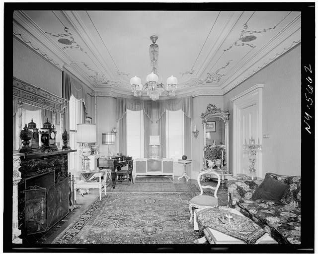 4.  Historic American Buildings Survey, Hans Padelt, Photographer Winter 1968 (2 1/4' x 2 3/4' negative), FIRST FLOOR, NORTHEAST PARLOR LOOKING EAST. - Amon Bronson House, 263 South Plymouth Avenue, Rochester, Monroe County, NY