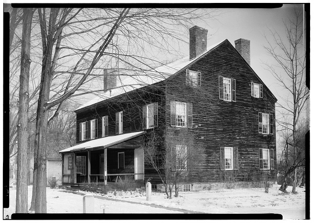 2.  Historic American Buildings Survey, N. E. Baldwin, Photographer 1937, SOUTHWEST ELEVATION. - Isaac Parris House & Trading Post, Fort Plain, Montgomery County, NY