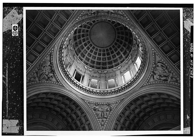 9.  Historic American Buildings Survey, Cervin Robinson, Photographer 1964, INTERIOR OF DOME. - Grant's Monument, Riverside Drive & West 122nd Street, New York, New York County, NY