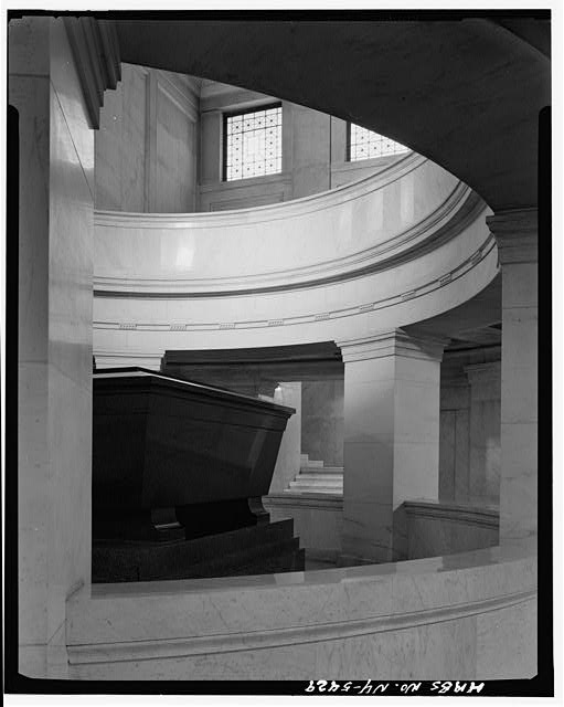 15.  Historic American Buildings Survey, Cervin Robinson, Photographer April 3, 1969, VIEW OF LOWER LEVEL FROM WEST, SHOWING SARCOPHAGUS. - Grant's Monument, Riverside Drive & West 122nd Street, New York, New York County, NY