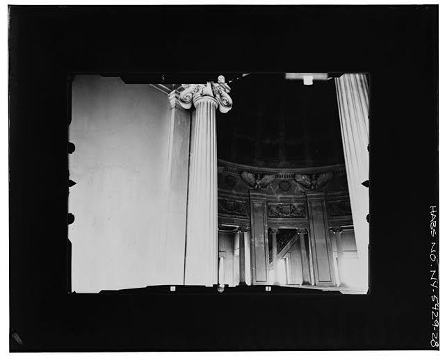 28.  INTERIOR, LOOKING WEST AT BALCONY LEVEL-- INCLINED Copy photograph of photogrammetric plate LC-HABS-GS05-T-2564-112L. - Grant's Monument, Riverside Drive & West 122nd Street, New York, New York County, NY