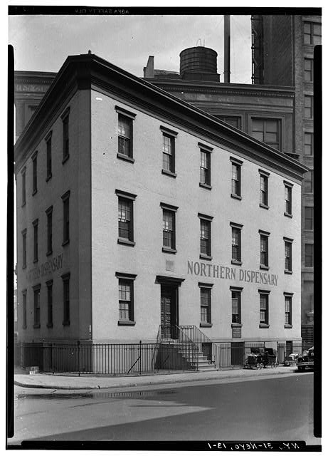 1.  Historic American Buildings Survey, E.P. MacFarland, Photographer April 24, 1934, VIEW FROM WEST. - Northern Dispensary, 165 Waverly Place, New York, New York County, NY
