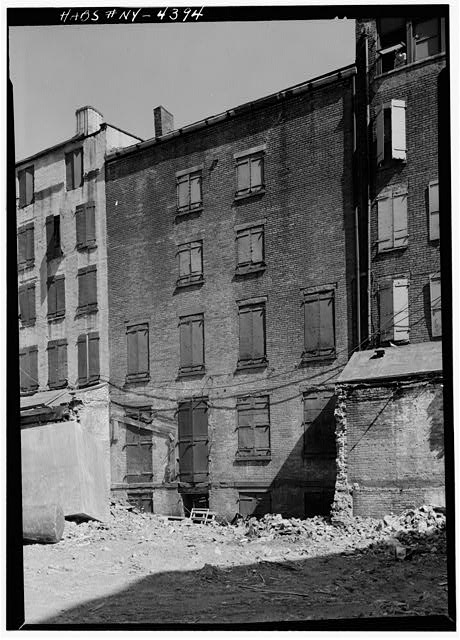2.  Historic American Buildings Survey, Cervin Robinson, Photographer February 1960, NORTHWEST (REAR) ELEVATION. - Phoenix-Shaw Warehouse, 68-70 Front Street, New York, New York County, NY