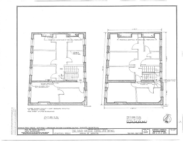 HABS NY,31-NEYO,123- (sheet 2 of 5) - David Walker House & Office, 45 Whitehall Street, New York, New York County, NY