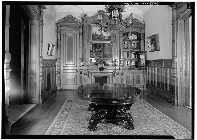 4.  Historic American Buildings Survey, 1966, INTERIOR, EAST ROOM, MANTLEPIECE. - Sherman Phelps House, 191 Court Street, Binghamton, Broome County, NY