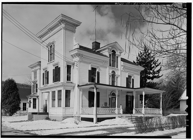 2.  Historic American Buildings Survey, 1963, EAST SIDE, PORTION OF SOUTH. - Sheldon Hyde House, 97 Second Street, Deposit, Broome County, NY