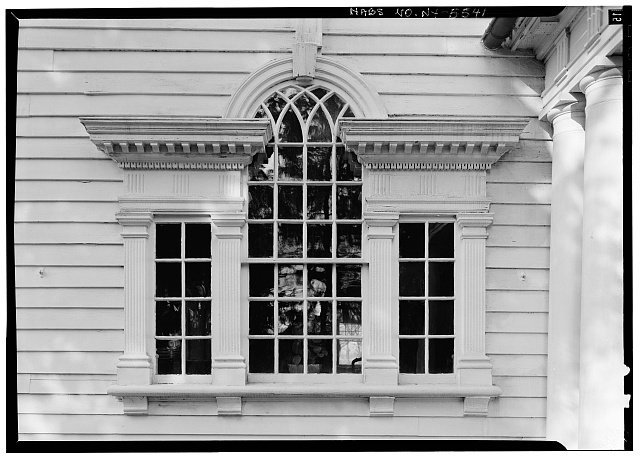 6.  Historic American Buildings Survey, 1963, DETAIL, PALLADIAN WINDOW ON WEST ELEVATION. - Amos Patterson House, 3725 River Road, Endwell, Broome County, NY