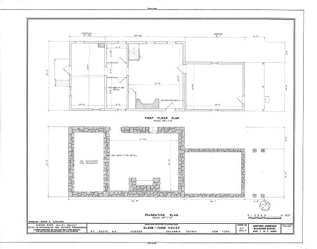 HABS NY,11-HUD,1F- (sheet 2 of 5) - Olana, Farmhouse, State Route 9G, Hudson, Columbia County, NY