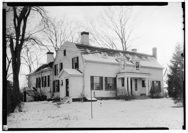 1.  Historic American Buildings Survey, 1937, N. E. Baldwin, Photographer, SOUTH ELEVATION. - Spencer-Hinds House, Kinderhook, Columbia County, NY
