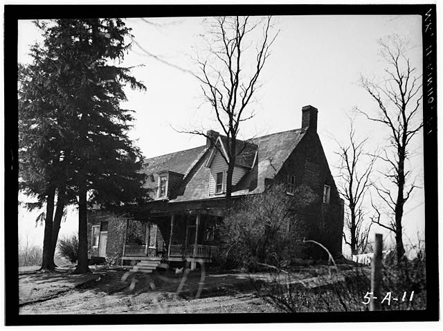 1.  Historic American Buildings Survey, Norman R. Sturgis, Photographer, April 1934, VIEW FROM NORTHEAST. - Adam Van Alen House, Kinderhook Creek Vicinity, Kinderhook, Columbia County, NY