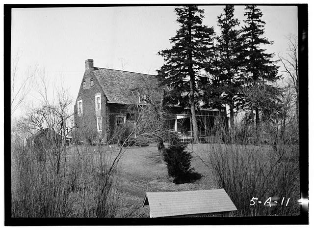 2.  Historic American Buildings Survey, Norman R. Sturgis, Photographer, April 1934, VIEW FROM SOUTHEAST. - Adam Van Alen House, Kinderhook Creek Vicinity, Kinderhook, Columbia County, NY
