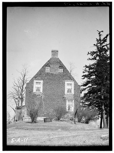 3.  Historic American Buildings Survey, Norman R. Sturgis, Photographer, April 1934, SOUTH ELEVATION. - Adam Van Alen House, Kinderhook Creek Vicinity, Kinderhook, Columbia County, NY