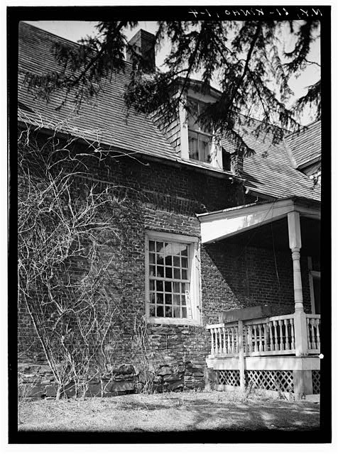 4.  Historic American Buildings Survey, Norman R. Sturgis, Photographer, April 1934, DETAIL OF EAST ELEVATION. - Adam Van Alen House, Kinderhook Creek Vicinity, Kinderhook, Columbia County, NY