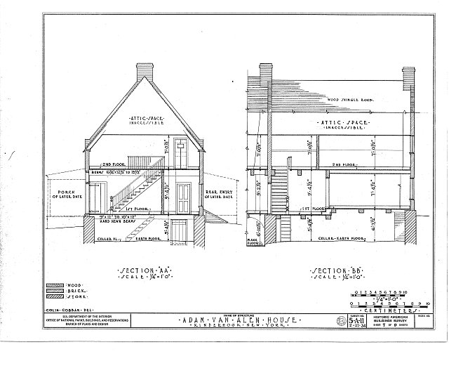 HABS NY,11-KINHO,1- (sheet 7 of 9) - Adam Van Alen House, Kinderhook Creek Vicinity, Kinderhook, Columbia County, NY