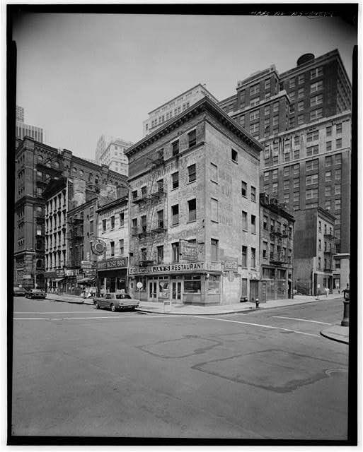 1.  FRONT STREET, MAIN ELEVATION - Jacob Houseman House, 49 Whitehall Street, New York, New York County, NY