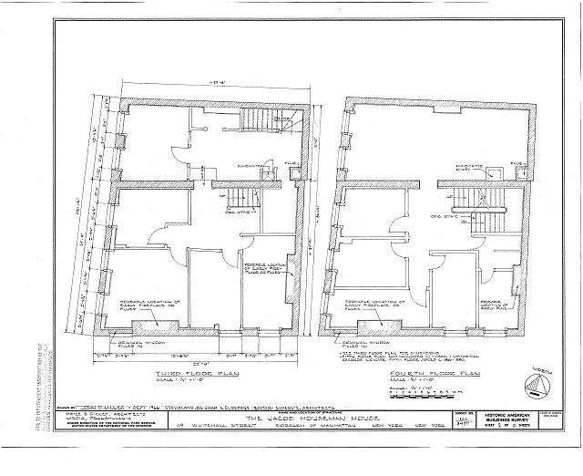 HABS NY,31-NEYO,126- (sheet 2 of 3) - Jacob Houseman House, 49 Whitehall Street, New York, New York County, NY