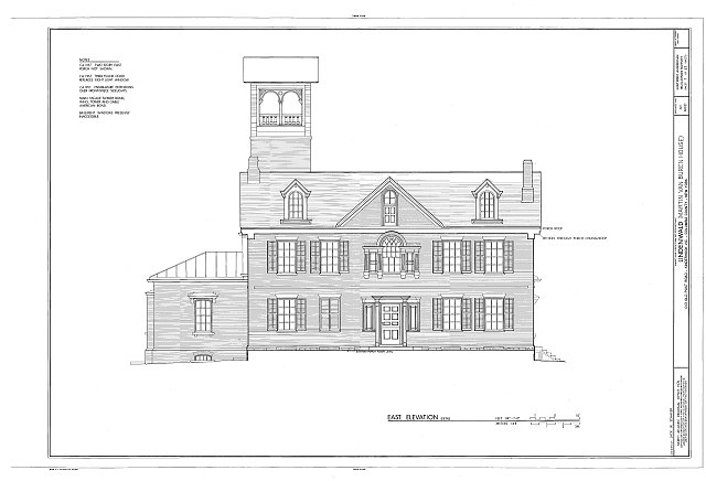 HABS NY,11-KINHO.V,1- (sheet 7 of 27) - Lindenwald, 1013 Old Post Road, Kinderhook, Columbia County, NY