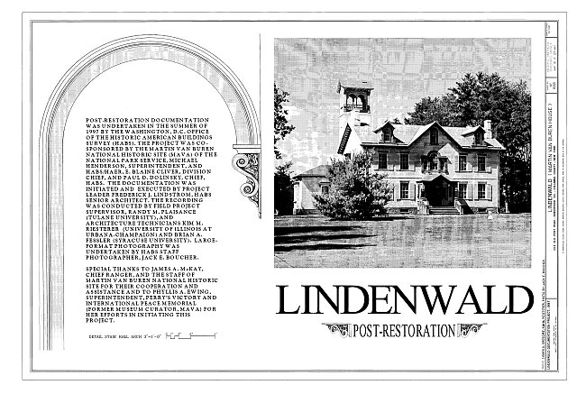 HABS NY,11-KINHO.V,1- (sheet 13 of 27) - Lindenwald, 1013 Old Post Road, Kinderhook, Columbia County, NY