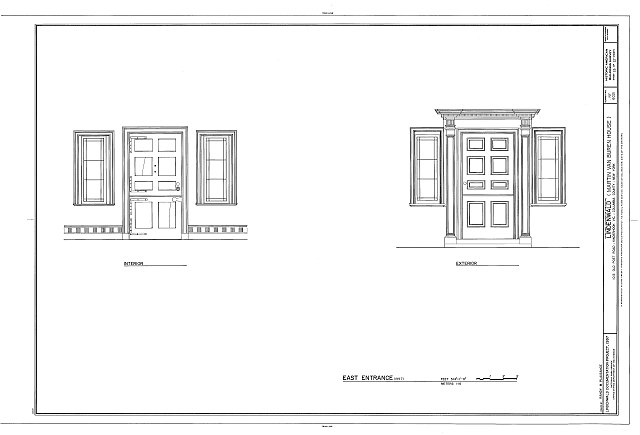 HABS NY,11-KINHO.V,1- (sheet 23 of 27) - Lindenwald, 1013 Old Post Road, Kinderhook, Columbia County, NY