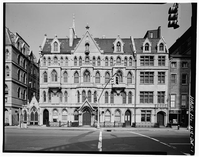 1.  MAIN ELEVATION - Grace Church Houses, Fourth Avenue & Eleventh Street, New York, New York County, NY
