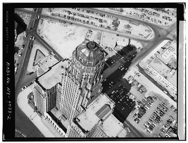2.  AERIAL VIEW - Buffalo City Hall, 65 Niagara Square, Buffalo, Erie County, NY