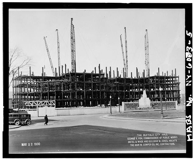 5.  City Hall under construction at 5th floor,looking northwest, March 22,1930 - Buffalo City Hall, 65 Niagara Square, Buffalo, Erie County, NY