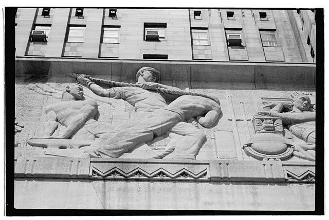 15.  East elevation,northern portion of frieze - Buffalo City Hall, 65 Niagara Square, Buffalo, Erie County, NY
