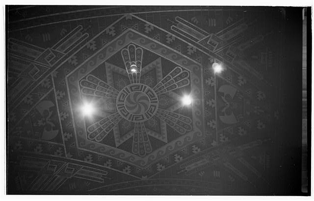 23.  Interior,first floor,tile ceiling above main corridor - Buffalo City Hall, 65 Niagara Square, Buffalo, Erie County, NY