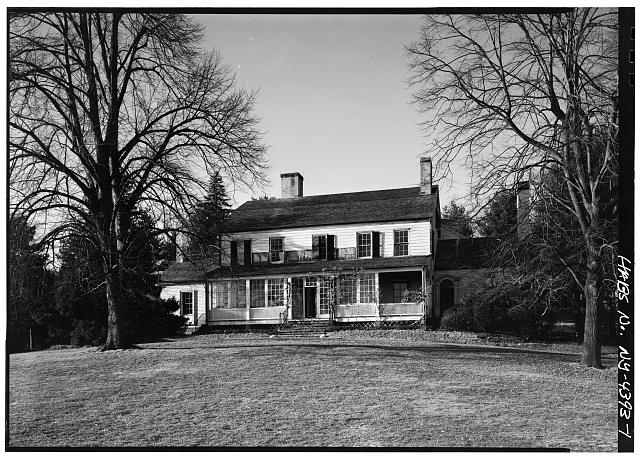 1.  GENERAL VIEW OF SOUTH ELEVATION - John Jay House, State Route 22, Katonah, Westchester County, NY