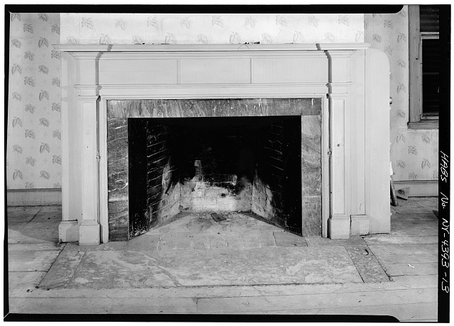 13.  SECOND FLOOR, EAST ROOM, DETAIL OF FIREPLACE - John Jay House, State Route 22, Katonah, Westchester County, NY