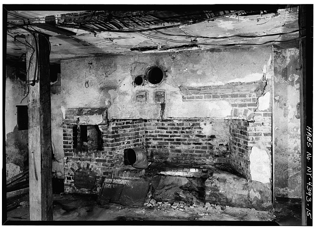 15.  CELLAR, EAST ROOM, FIREPLACE AND BAKE OVEN - John Jay House, State Route 22, Katonah, Westchester County, NY