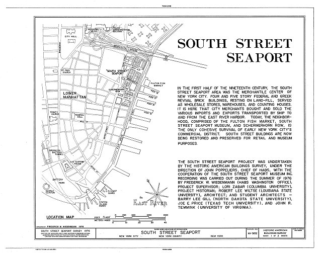 HABS NY,31-NEYO,129- (sheet 1 of 2) - South Street Seaport Museum, New York, New York County, NY