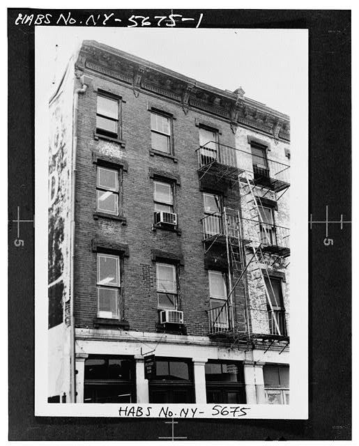 1.  203 FRONT STREET, EAST FRONT (from HABS field photo) - South Street Seaport Museum, 203-204 Front Street, New York, New York County, NY