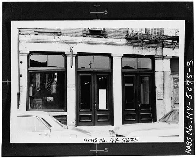 3.  STOREFRONT OF 203 FRONT STREET (from HABS field photo) - South Street Seaport Museum, 203-204 Front Street, New York, New York County, NY