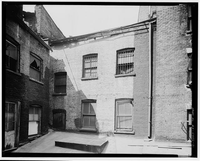 2.  REAR ELEVATION, DETAIL OF TWO UPPER FLOORS - Jacob Crocheron House, 47 Whitehall Street, New York, New York County, NY