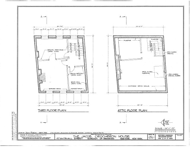 HABS NY,31-NEYO,125- (sheet 2 of 4) - Jacob Crocheron House, 47 Whitehall Street, New York, New York County, NY