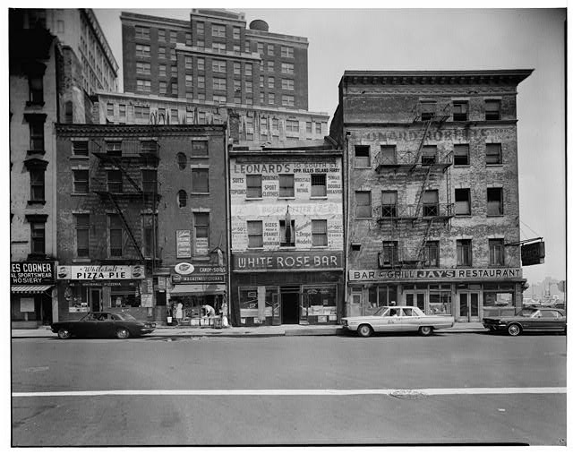 1.  WHITEHALL STREET ELEVATION, VIEW FROM WHITEHALL PIZZERIA (No. 45) TO JAY'S BAR AND GRILL RESTAURANT (CORNER OF WHITEHALL AND FRONT) - Front & Whitehall Streets Study, Bounded by Front & Whitehall Streets, New York, New York County, NY