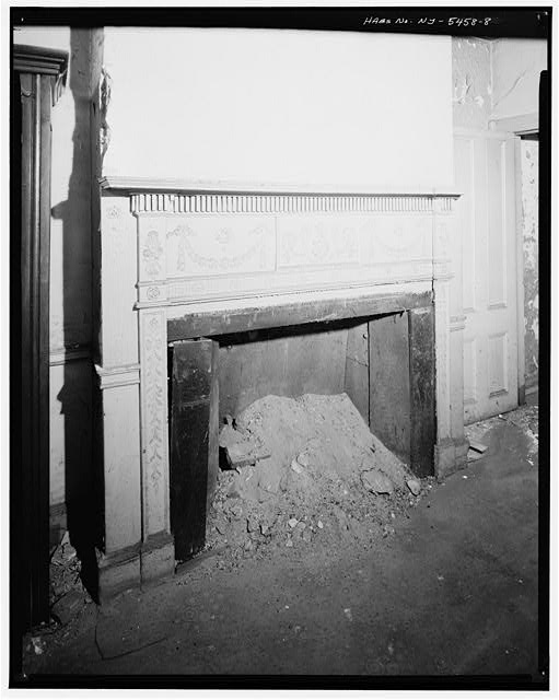 8.  SECOND FLOOR, FRONT ROOM, LEFT TWO BAYS, DETAIL OF FIREPLACE - Jacob Houseman House & Office, 2 Front Street, New York, New York County, NY